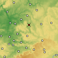 Nearby Forecast Locations - Schwäbisch Hall - Χάρτης
