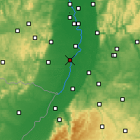 Nearby Forecast Locations - Germersheim - Χάρτης