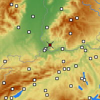 Nearby Forecast Locations - Lörrach - Χάρτης