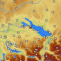 Nearby Forecast Locations - Kreuzlingen - Χάρτης