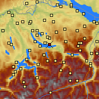 Nearby Forecast Locations - Jona - Χάρτης