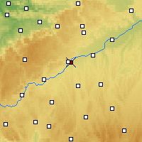 Nearby Forecast Locations - Neu-Ulm - Χάρτης