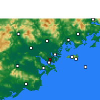 Nearby Forecast Locations - Shantou Airport - Χάρτης