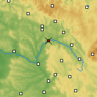 Nearby Forecast Locations - Lichtenfels - Χάρτης