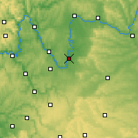 Nearby Forecast Locations - Kitzingen - Χάρτης