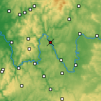 Nearby Forecast Locations - Karlstadt - Χάρτης