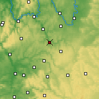 Nearby Forecast Locations - Bad Mergentheim - Χάρτης