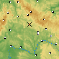 Nearby Forecast Locations - Hildburghausen - Χάρτης