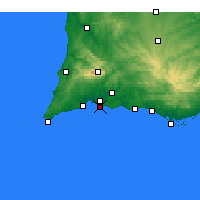 Nearby Forecast Locations - Praia da Rocha - Χάρτης