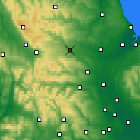 Nearby Forecast Locations - Barnard Castle - Χάρτης