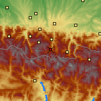Nearby Forecast Locations - Saint-Lary-Soulan - Χάρτης