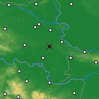 Nearby Forecast Locations - Vinkovci - Χάρτης
