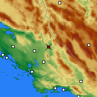 Nearby Forecast Locations - Knin - Χάρτης