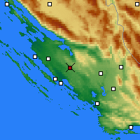Nearby Forecast Locations - Benkovac - Χάρτης