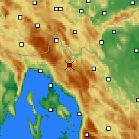 Nearby Forecast Locations - Delnice - Χάρτης