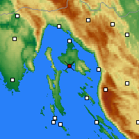 Nearby Forecast Locations - Krk - Χάρτης