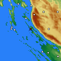 Nearby Forecast Locations - Novalja - Χάρτης