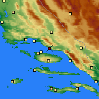 Nearby Forecast Locations - Omiš - Χάρτης