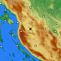 Nearby Forecast Locations - Otočac - Χάρτης