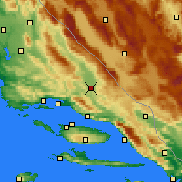 Nearby Forecast Locations - Trilj - Χάρτης