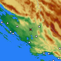 Nearby Forecast Locations - Kistanje - Χάρτης
