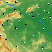 Nearby Forecast Locations - Pisarovina - Χάρτης