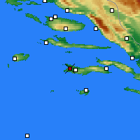Nearby Forecast Locations - Vela Luka - Χάρτης