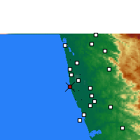 Nearby Forecast Locations - Alappuzha - Χάρτης