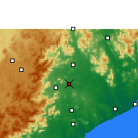 Nearby Forecast Locations - Bobbili - Χάρτης
