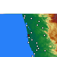 Nearby Forecast Locations - Cherthala - Χάρτης