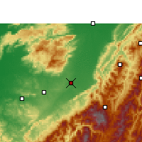 Nearby Forecast Locations - Dimapur - Χάρτης