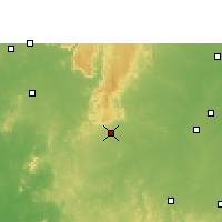 Nearby Forecast Locations - Dongargarh - Χάρτης