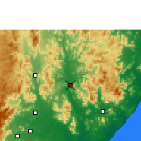 Nearby Forecast Locations - Gunupur - Χάρτης