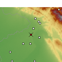 Nearby Forecast Locations - Gurdaspur - Χάρτης