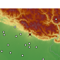 Nearby Forecast Locations - Haldwani - Χάρτης