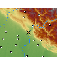 Nearby Forecast Locations - Haridwar - Χάρτης
