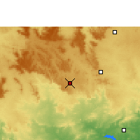 Nearby Forecast Locations - Jashpur Nagar - Χάρτης