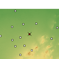Nearby Forecast Locations - Jhunjhunu - Χάρτης