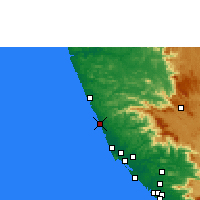 Nearby Forecast Locations - Kanhangad - Χάρτης