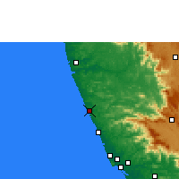 Nearby Forecast Locations - Kasaragod - Χάρτης