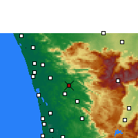 Nearby Forecast Locations - Kothamangalam - Χάρτης