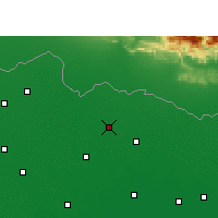 Nearby Forecast Locations - Madhubani - Χάρτης