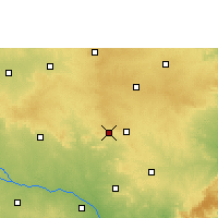Nearby Forecast Locations - Mahabubnagar - Χάρτης