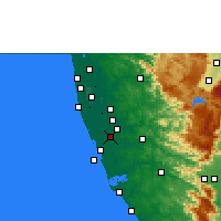 Nearby Forecast Locations - Mavelikkara - Χάρτης