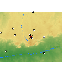 Nearby Forecast Locations - Mhowgaon - Χάρτης