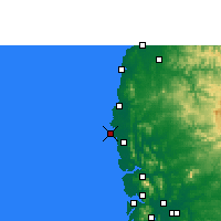 Nearby Forecast Locations - Nawapur - Χάρτης