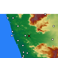 Nearby Forecast Locations - Ottapalam - Χάρτης