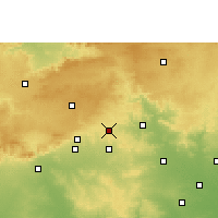 Nearby Forecast Locations - Pandhurna - Χάρτης