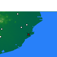Nearby Forecast Locations - Paradip - Χάρτης