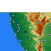 Nearby Forecast Locations - Pathanamthitta - Χάρτης